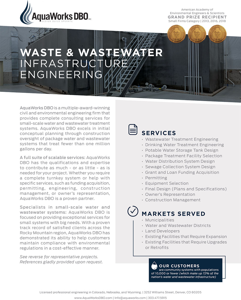 Value - AquaWorks DBO, Inc  - Design Build Operate